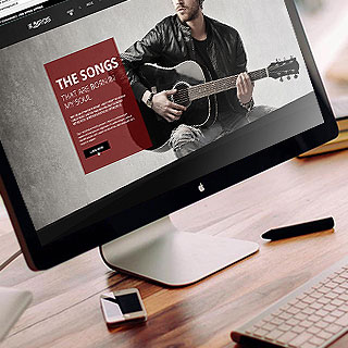 web design and development service for The Songs