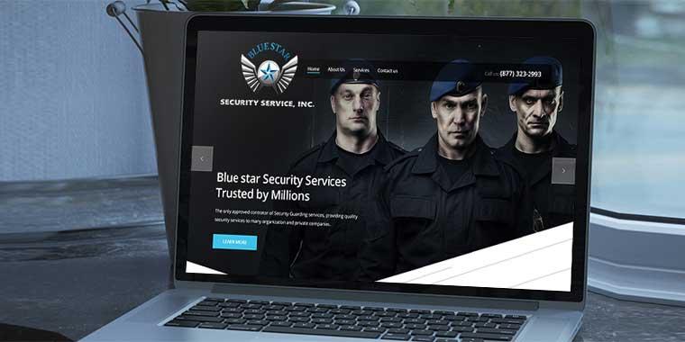 logo design service for Blue Star