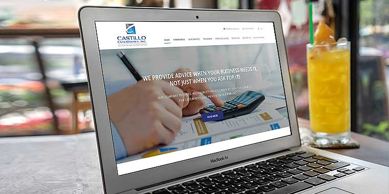 web design and development service for Castillo