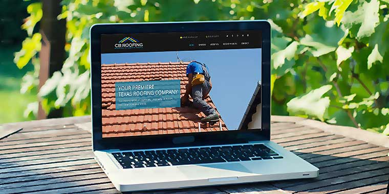 logo design service for CB Roofing