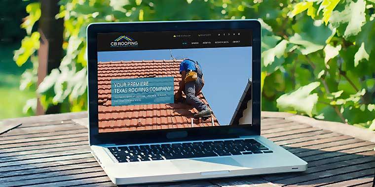 logo design service for CB Roofing