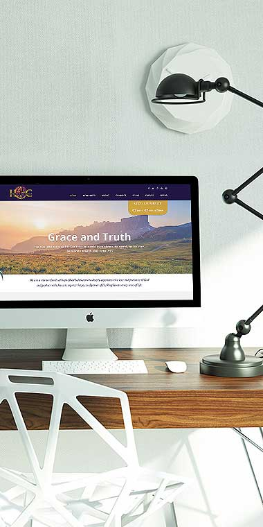 web design and development service for Grace & Truth